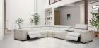 Italian Recliner Sofa Pisa white