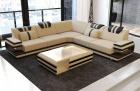 Fabric Sofa San Antonio L shape in beige - Mineva4