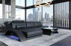 Leather Sectional Sofa Malibu L shape black