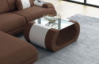 Fabric coffee table Ventura in Mineva 5 - brown