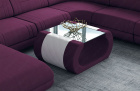 Fabric coffee table Ventura in Mineva 13 - purple