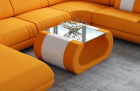 Fabric coffee table Ventura in Mineva 11 - Terra-Orange