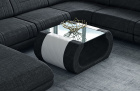 Fabric coffee table Ventura in Hugo 14 - black