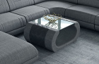 Fabric coffee table Ventura in Hugo 5 - grey