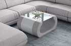 Fabric coffee table Ventura in Hugo 2 - beige