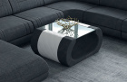 Fabric coffee table Ventura in Hugo 13 - black-grey
