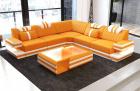 Fabric Sofa San Antonio L shape in orange - Mineva16