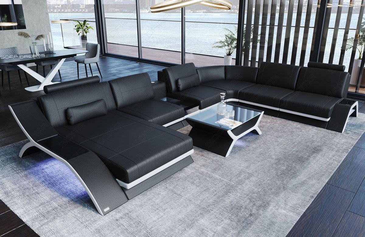 XL Fabric Sectional Sofa Malibu