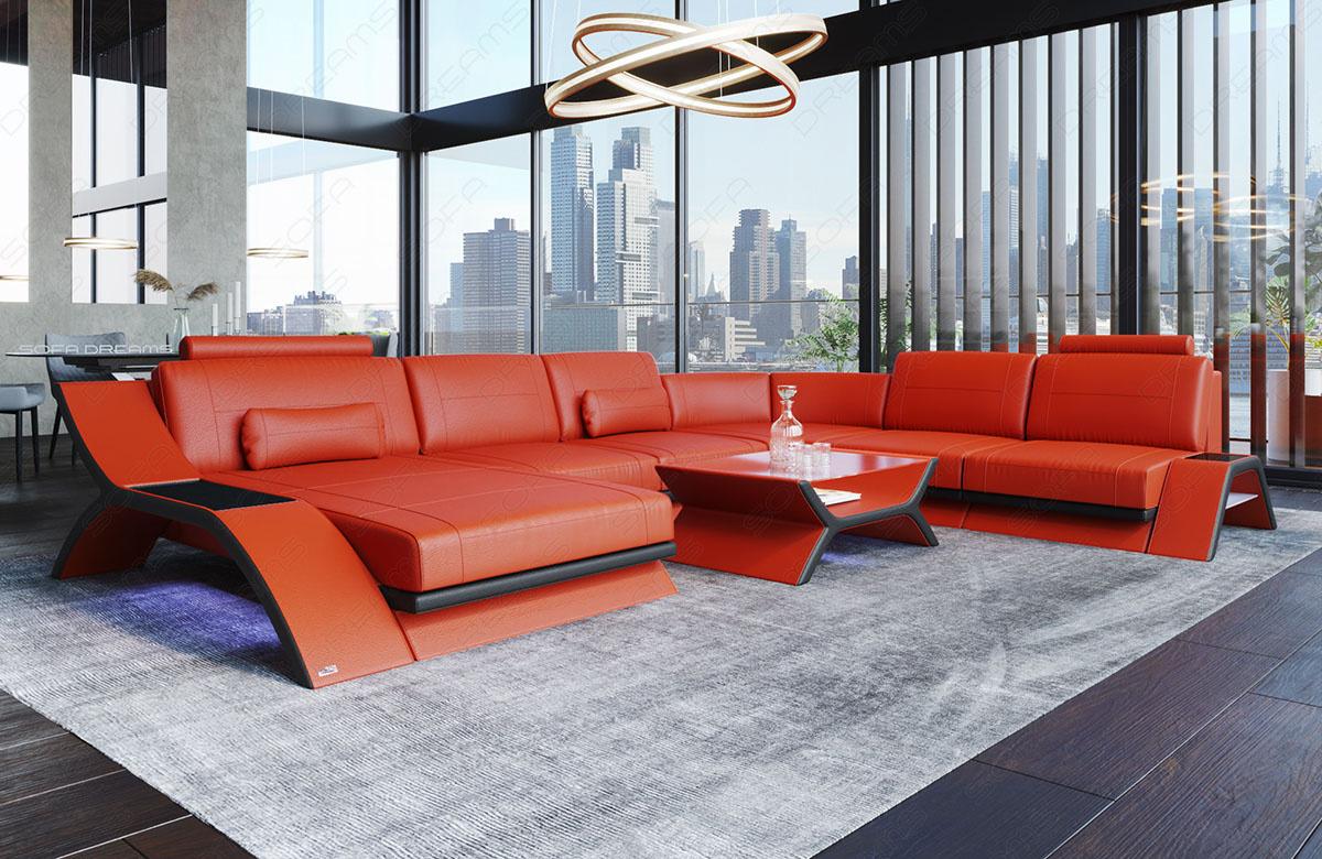 Sectional Leather Sofa Malibu XL