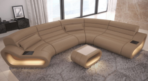Design sectional sofa with LED